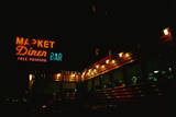 This Is a Diner on the Westside Highway. it Has Neon Lights on the Outside Photographic Print