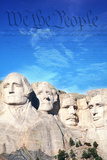 Preamble to the U.S. Constitution Behind Mount Rushmore Photographic Print