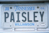 Vanity License Plate - Tennessee Photographic Print