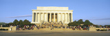 Lincoln Memorial and Tourists in Morning, Washington DC Photographic Print