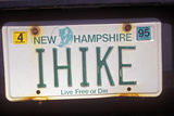 Vanity License Plate - New Hampshire Photographic Print