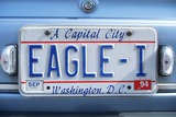 Vanity License Plate - Washington, DC Photographic Print