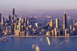 The Chicago Skyline at Sunrise, Chicago, Illinois Photographic Print