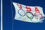 Olympics Flag of USA Photographic Print