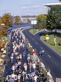 Runners in 17th Marine Marathon, Washington DC Photographic Print