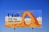 Welcome to Utah Sign Photographic Print