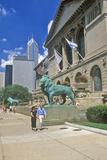 Entrance to the Art Institute Museum, Chicago, Illinois Photographic Print