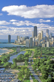 Aerial View of Chicago, Illinois Photographic Print