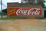 Vintage Coca Cola Advertisement Sign Painted on Side of Old Building in Plains, Georgia Photographic Print