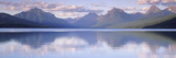 This Is Lake Mcdonald. the Surrounding Mountains are Reflected in the Lake Photographic Print