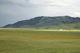 Storm Clouds and Sunlight on Farm in Distance of Centennial Valley, Mt Photographic Print