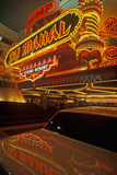 Neon Sign Outside of Donald Trump's Taj Mahal Casino in Atlantic City, NJ Photographic Print