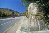Indian Statue, Mohawk Trail, West Massachusetts Photographic Print