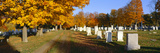 Cemetery in Autumn at Brattleboro, Vermont Photographic Print