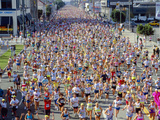 Runners in Los Angeles Marathon, California Photographic Print