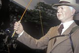 Statue of Herbert Hoover with Fishing Rod, West Branch, Iowa Photographic Print