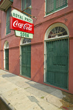 Old Pharmacy with Coke Sign in French Quarter of New Orleans, Louisiana Photographic Print