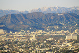 Snowy Hills and Hollywood from Baldwin Hills, Los Angeles, California Photographic Print