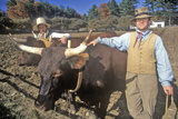 Men with Oxen, Old Sturbridge Village, Sturbridge, Massachusetts Photographic Print