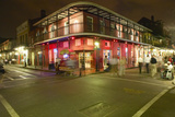 Night Life with Lights on Bourbon Street in French Quarter New Orleans, Louisiana Photographic Print