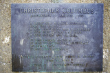 Plaque to the Christopher Columbus Statue, Denver, Colorado Photographic Print