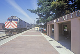 Caltran Train in Cupertino, California Photographic Print