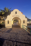 Morning Light on the Arch Leading to Via Casino, Avalon, Catalina Island, California Photographic Print