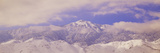 Snowy Mountains and Clouds in Sierra Nevada Mountains, California Photographic Print