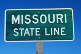 Welcome to Missouri Sign Photographic Print