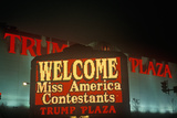 Neon Sign in Front of Trump Plaza in Atlantic City, NJ Photographic Print