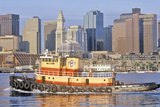 Tugboat in Boston Harbor, Boston, Massachusetts Photographic Print