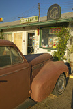 Historic Vintage Roadside Motel on Old Route 66 Welcomes Old Cars and Guests in Barstow California Photographic Print