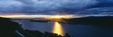 Sunset over Columbia River, View Toward Portland, Oregon Photographic Print