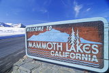 """Welcome to Mammoth Lakes California"" Sign Along Roadway, Mammoth, California Photographic Print"