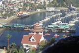 Holly Hill House and Avalon Harbor, Avalon, Catalina Island, California Photographic Print