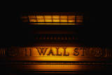 This Is a Sign on the Outside of the New York Stock Exchange That Says Wall Street Photographic Print