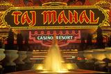 Neon Sign Outside of Donald Trump's Taj Mahal Casino in Atlantic City, NJ Photographic Print