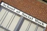 School of Social Work Sign, University of Iowa, Iowa City, Iowa Photographic Print