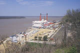 Riverboat Gambling Boat Docked in Vicksburg, Ms Photographic Print