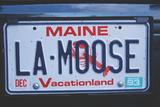 Vanity License Plate - Maine Photographic Print