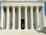 Front of Us Supreme Court, Washington DC Photographic Print