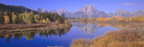 Grand Tetons Reflected in Oxbow Bend, Wyoming Fotodruck