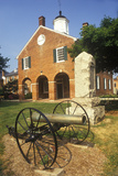 Red Brick Courthouse with Cannon in Foreground, Fairfax County, VA Photographic Print