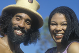 A Smiling African-American Couple Photographic Print