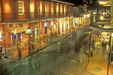 Bourbon Street at Night, New Orleans, Louisiana Valokuvavedos