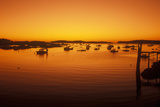 Sunrise over Harbor in Stonington, Me Photographic Print