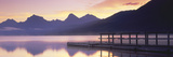 Boat Dock at Lake Mcdonald, Glacier National Park, Montana Photographic Print