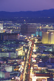 View of the Strip at Night from the Stratosphere Tower, NV Photographic Print