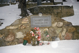 Grave Site of Calamity Jane, Infamous Outlaw in Mount Moriah Cemetery, Deadwood, Sd in Winter Snow Photographic Print
