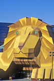 Replica of Lion at the Entrance of the Mgm Grand Hotel, Las Vegas, NV Photographic Print
